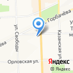 Пудра на карте Кирова