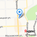 Рейс на карте Кирова