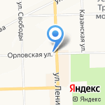 Блин`ОК на карте Кирова