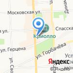 Вятка-турист на карте Кирова