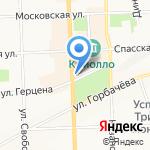 Модерн на карте Кирова