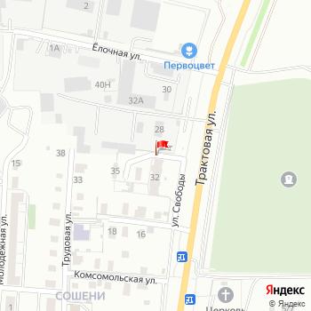 г. Киров, ул. Свободы, на карта