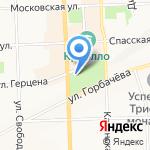 Лонда на карте Кирова