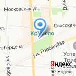 Вятская Красавица на карте Кирова