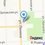 Шляпный дворик на карте Кирова