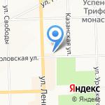 Управление Федеральной службы РФ по контролю за оборотом наркотиков по Кировской области на карте Кирова