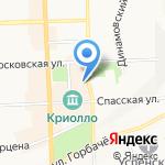 Четыре Комнаты на карте Кирова