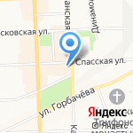 Городская реклама на карте Кирова