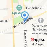 Перекресток на карте Кирова