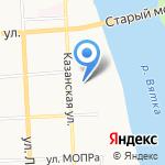 Кировское управление гражданской защиты на карте Кирова