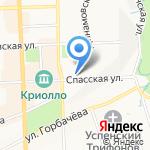Кристалл на карте Кирова