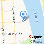 Церковь в честь Феодоровской иконы Божией Матери на карте Кирова