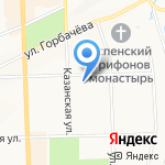 Яблоко на карте Кирова