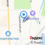 Зима-Летто на карте Кирова