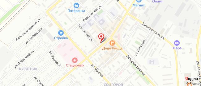 Карта расположения пункта доставки СИТИЛИНК в городе Чапаевск