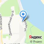 На Пристанской на карте Кирова