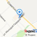 Нововятск на карте Кирова