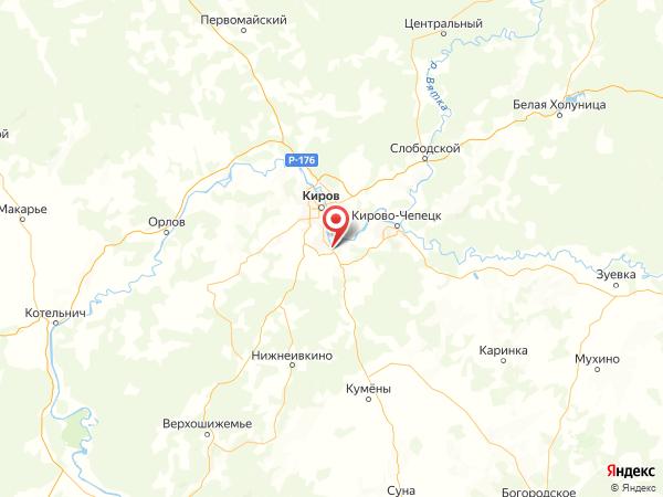 Нововятский район на карте