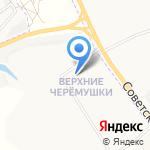 Верхние Черёмушки на карте Кирова