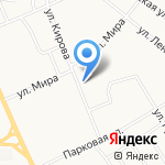Омела на карте Кирова