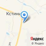 ТЦ Кстининский на карте Кирова