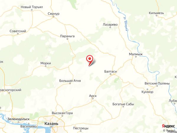 деревня Новый Ашит на карте