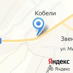 Кстининское на карте Кирова