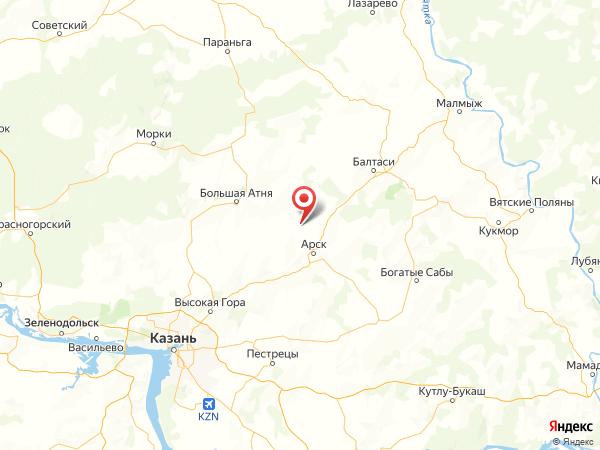 село Учили на карте