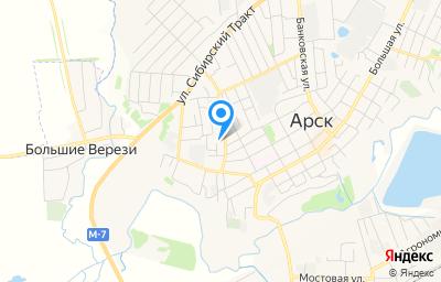 Местоположение на карте пункта техосмотра по адресу Респ Татарстан, г Арск, ул Астрономическая, д 15А