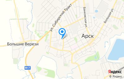 Местоположение на карте пункта техосмотра по адресу Респ Татарстан, г Арск, ул Астрономическая, зд 15А