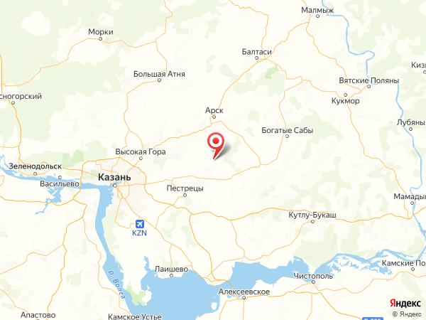 деревня Чертово на карте