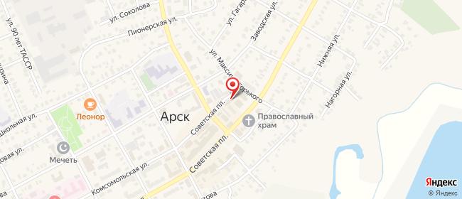 Карта расположения пункта доставки СИТИЛИНК в городе Арск
