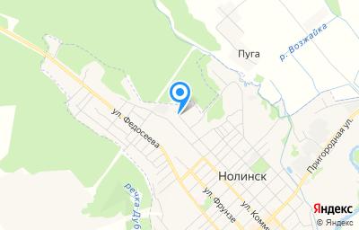Местоположение на карте пункта техосмотра по адресу Кировская обл, г Нолинск, ул Первомайская, д 83