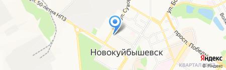 КрепМаркет на карте Новокуйбышевска