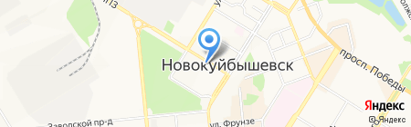 Центр недвижимости на карте Новокуйбышевска