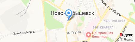 Банкомат Ханты-Мансийский банк Открытие на карте Новокуйбышевска