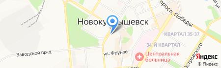 Банкомат Банк ВТБ 24 на карте Новокуйбышевска