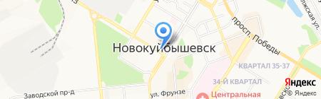 Банкомат Банк Петрокоммерц на карте Новокуйбышевска