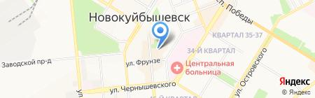 Мир шапок на карте Новокуйбышевска