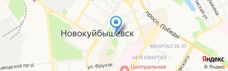 Электросвет на карте Новокуйбышевска