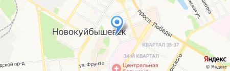 Город на карте Новокуйбышевска