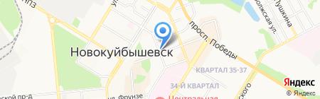 Мега Сити на карте Новокуйбышевска