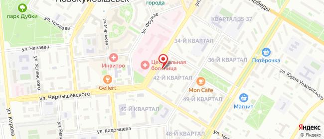Карта расположения пункта доставки СИТИЛИНК в городе Новокуйбышевск