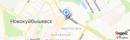Мир Соблазна на карте Новокуйбышевска