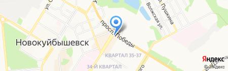 Kitmoney на карте Новокуйбышевска