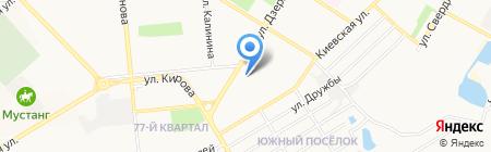 Мелисса на карте Новокуйбышевска