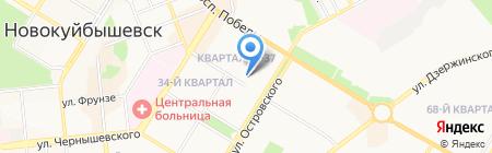 Вся Самара на карте Новокуйбышевска
