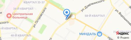 Банкомат Первый Объединенный Банк на карте Новокуйбышевска