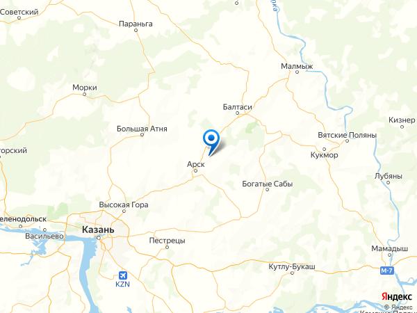 село Казанбаш на карте