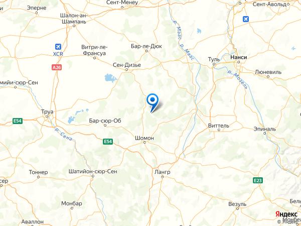 Дуленкур-Сокур на карте
